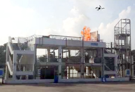 Yaacov Apelbaum City Falcon Performing Fire Inspection