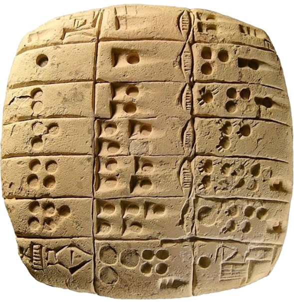Yaacov Apelbaum Sumerian mathematic tablet