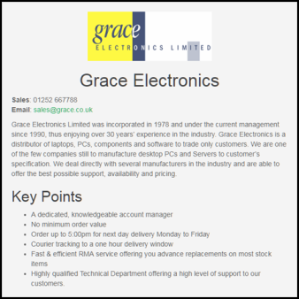 Grace Electronics Ltd and Chris Steele