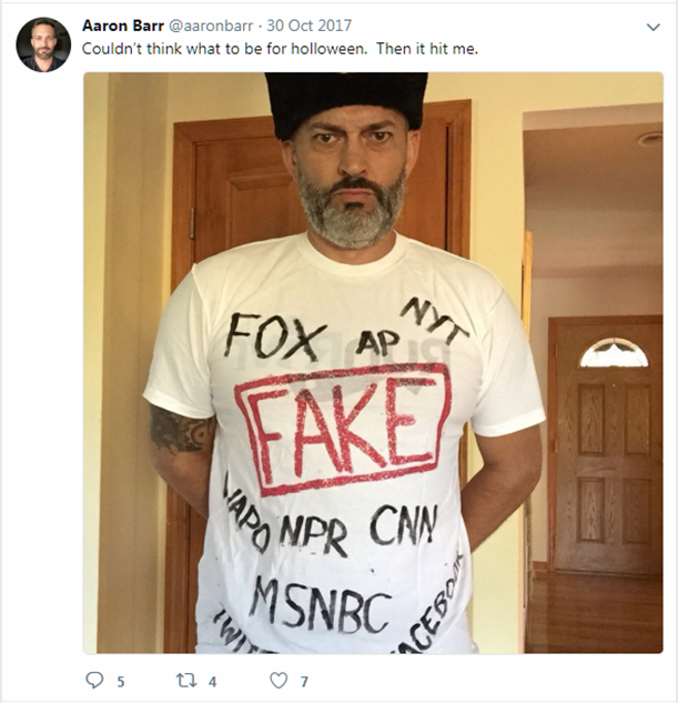 Aaron Barr Promoting Russian Collusion