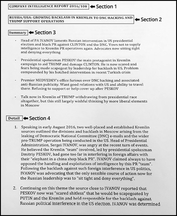 Steele Dossier Sample Page