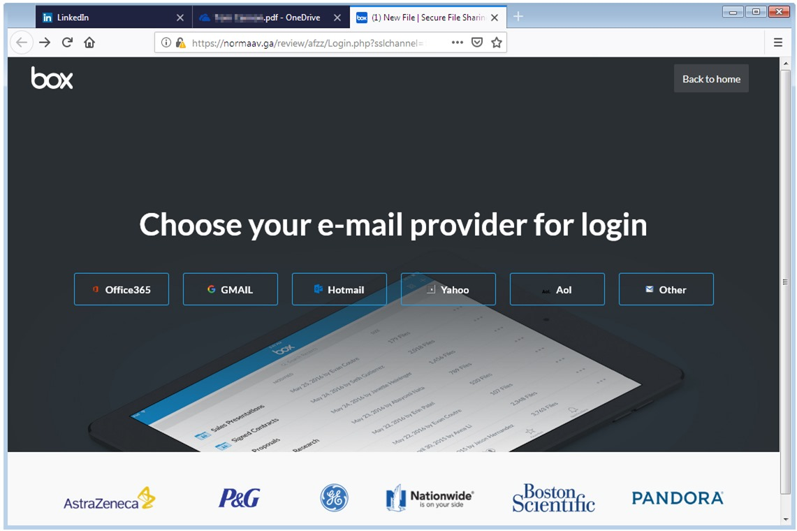 LinkedIn Phish Login Portal