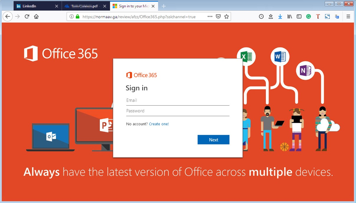 Normaav GA Office 365 Login