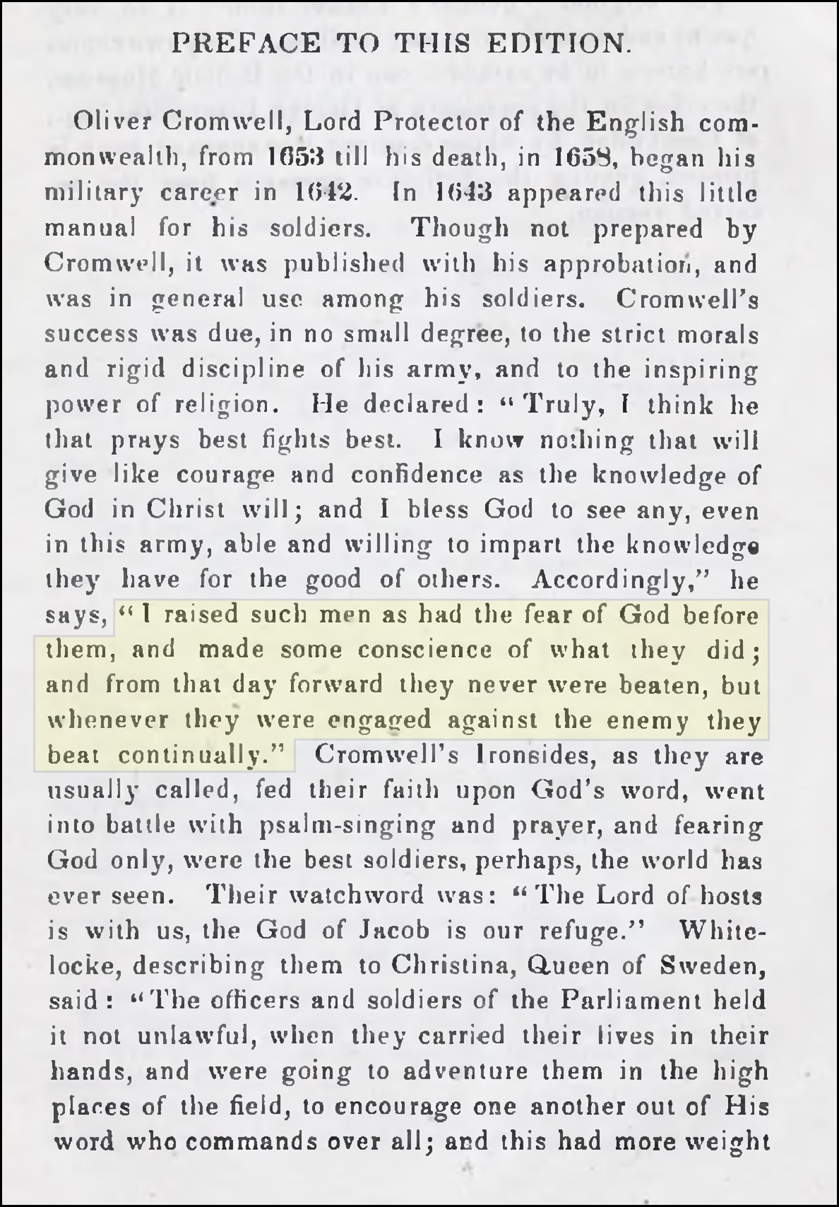 Preface to The Soldier's pocket Bible