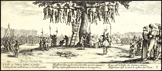 The Great Miseries of War) by Jacques Callot, 1632