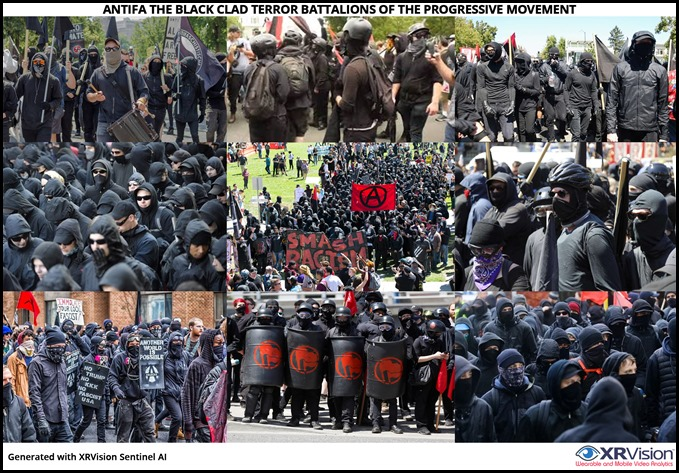 Antifa the black clad terror battalions
