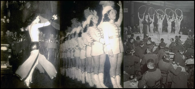 German soldiers attend a nightclub cabaret