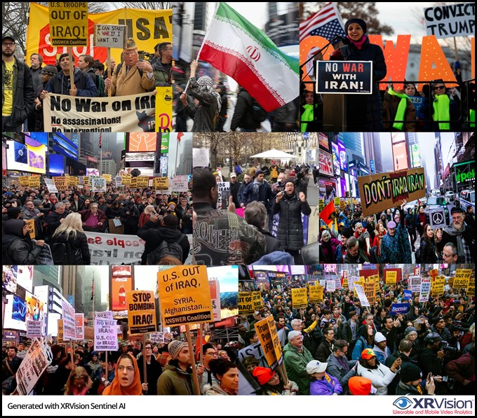 US Wide Pro-Iran Demonstrations