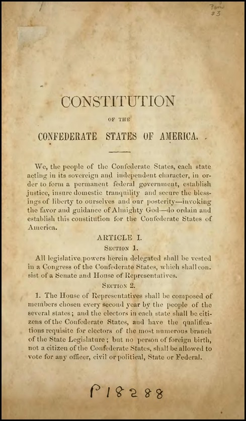Constitution of the Confederate States of America