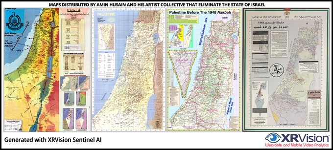 Amin Husain Sample Map Shwing no such place as Israel