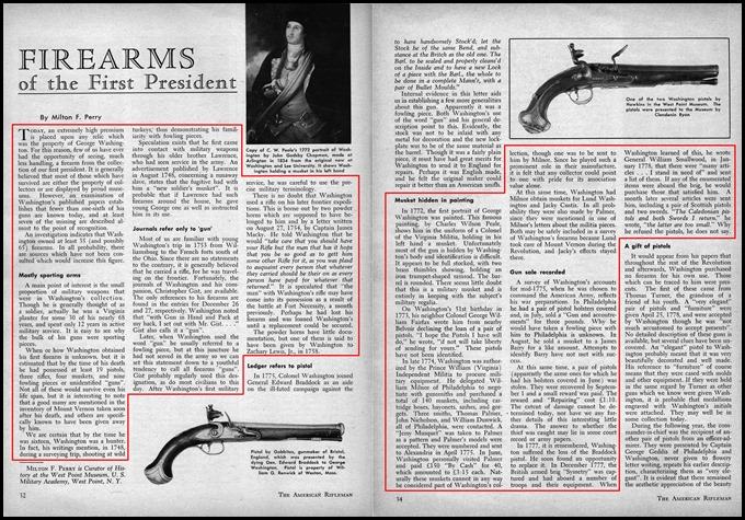 Firearms of the First President