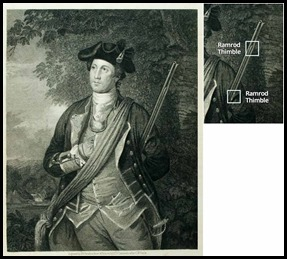 George Washington 1855 Etching Print From 1772 Portrait By Charles Willson Peale-2