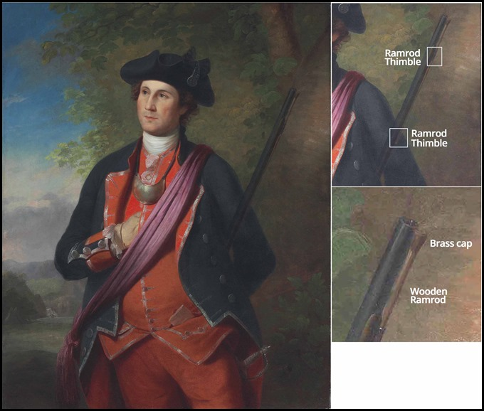 George Washington by Charles Willson Peale Rifle