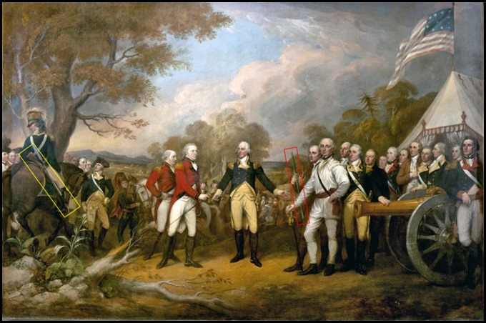 Surrender of British General John Burgoyne at Saratoga, New York on October 17, 1777