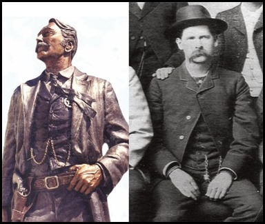 Frontier Marshal The US Marshal Service Statue after Wyatt Earp