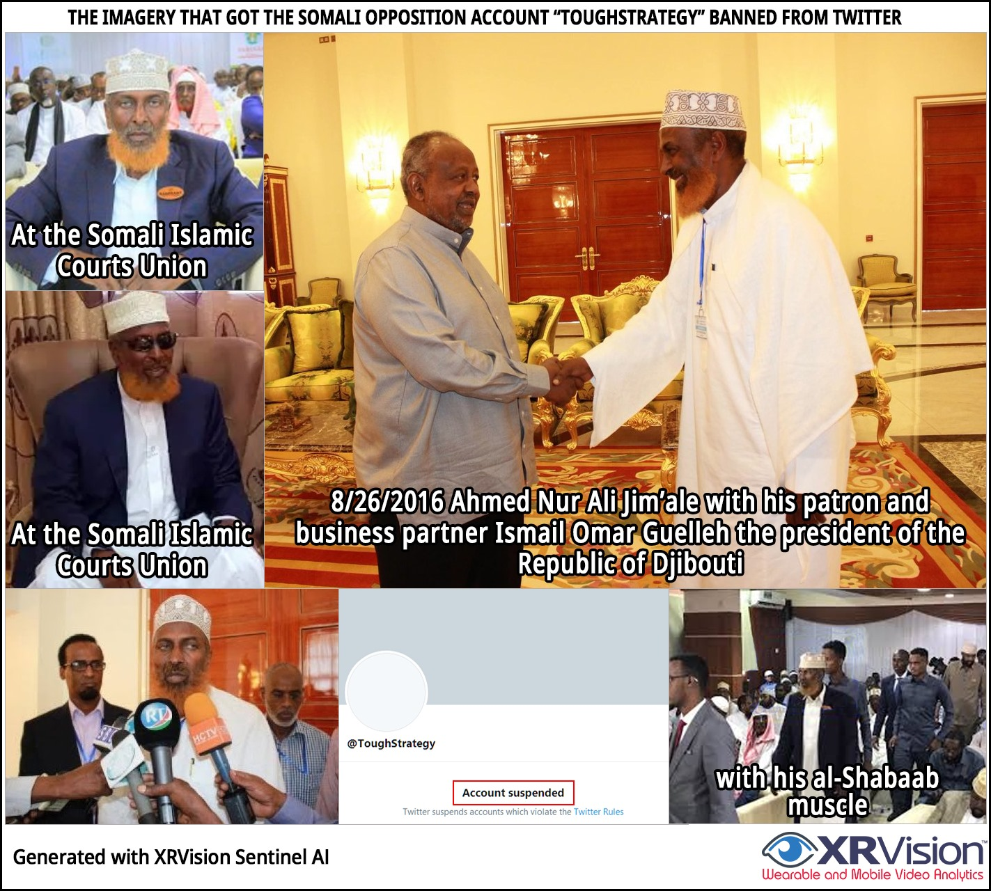 """Sample imagery published by the Somali opposition account """"ToughStrategy"""""""