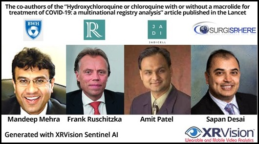 The co-authors of the Hydroxychloroquine Article