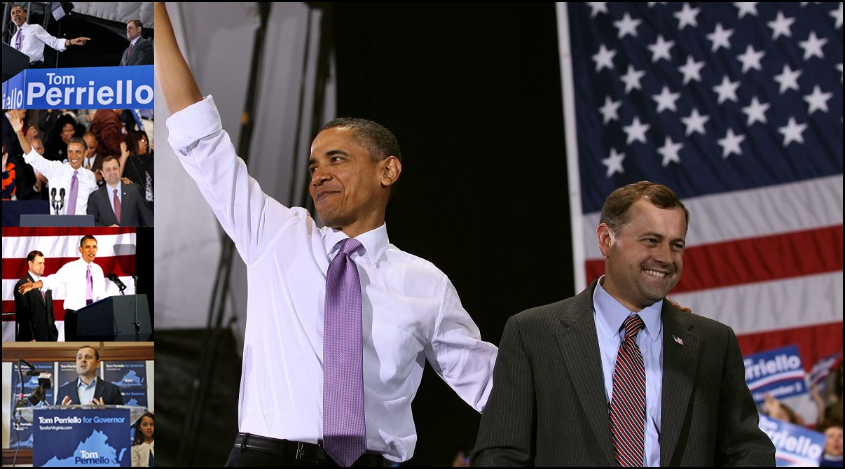 President Obama campaigning for Tom Perriello