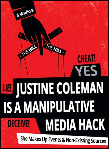 Justine Coleman is an media hack